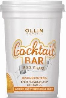OLLIN PROFESSIONAL Cocktail BAR Крем-Кондиционер для Волос Яичный Коктейль Блеск и Восстановление Волос, 500 мл