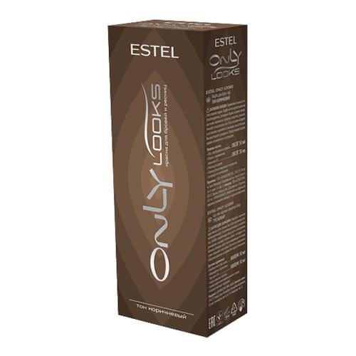 ESTEL Only Looks Краска для Бровей и Ресниц Коричневый, 50/30 мл
