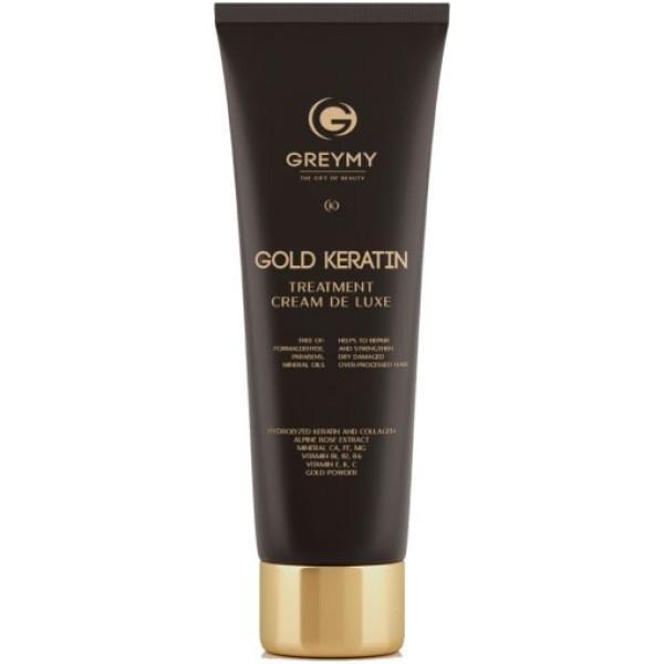 Greymy Крем Gold Hair Keratin Treatment Кератиновый с Частицами Золота, 100 мл