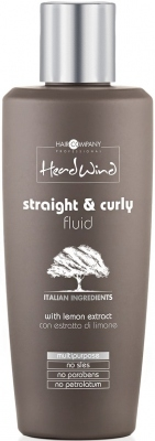 HAIR COMPANY HEAD WIND STRAIGHT&CURLY FLUID Средство для укладки прямых или вьющихся волос, 200 мл sirui p426s vh10 portable slr camera carbon fiber monopod with fluid head