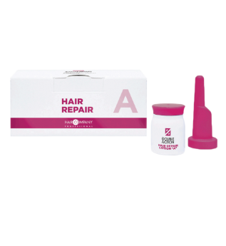 HAIR COMPANY Восстанавливающий Лосьон A+B (5+5)*10 мл Double Action Hair Repair Lotion, (5+5)*10 мл бустер для волос hair company professional double action c экстрактом кератина 10 шт х 10 мл