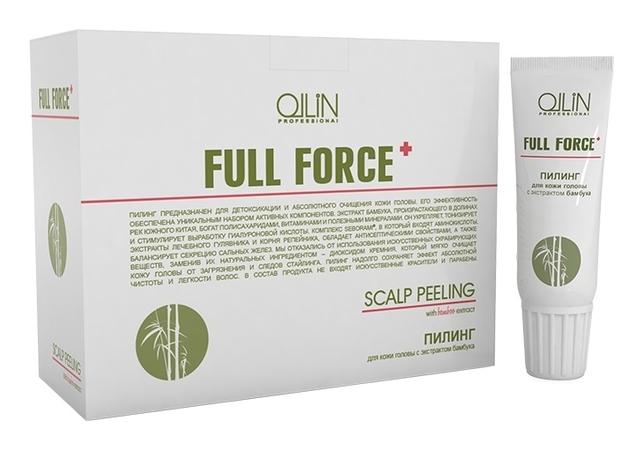 OLLIN PROFESSIONAL FULL FORCE Пилинг для Кожи Головы с Экстрактом Бамбука, 10штх15мл