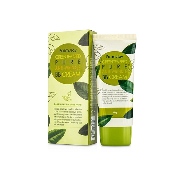 FarmStay ББ Крем, Разглаживающий Морщинки с Семенами Зеленого Чая Green Tеa Seed Pure Anti-Wrinkle BB Cream, 40г