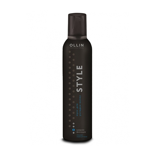 OLLIN PROFESSIONAL STYLE Мусс для Укладки Волос Средней Фиксации Mousse Medium Hold, 250 мл