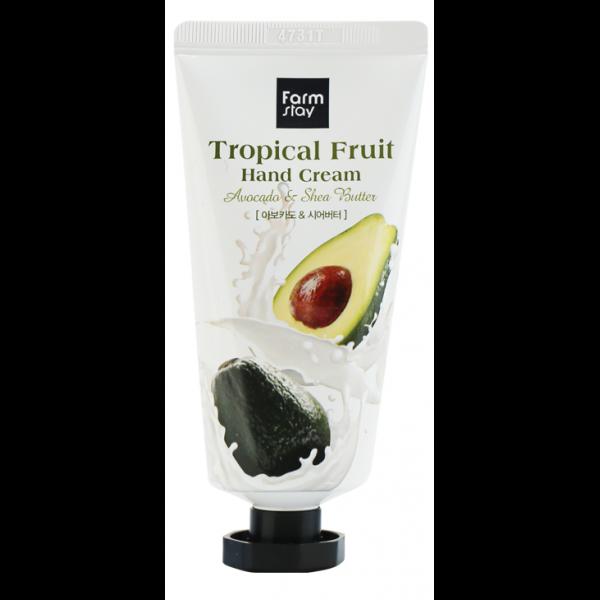 FarmStay Крем для Рук Тропические Фрукты с Авокадо и Маслом Ши Tropical Fruit Hand Cream Avocado & Shea Butter,, 50 мл