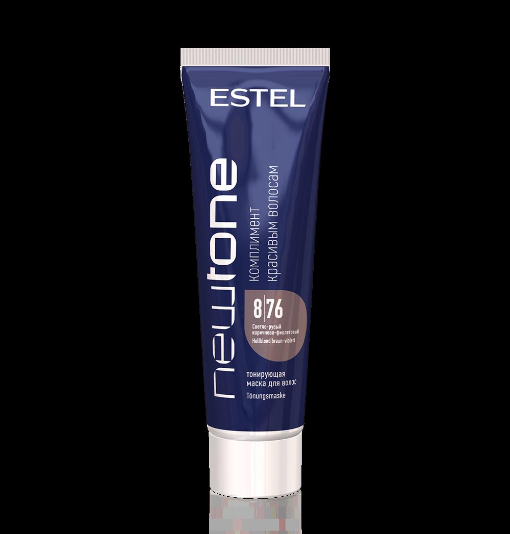 цена на Estel Haute Couture Маска Newtone для Волос Тонирующая 8/76 Светло-Русый Коричнево-Фиолетовый, 60 мл