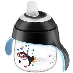 AVENT Philips Чашка-Поильник (200 мл, 6 мес+) Черная для Детей до 3-х Лет
