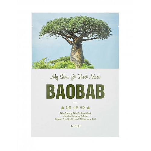 A'Pieu Маска My Skin-Fit Sheet Mask Baobab Тканевая с Экстрактом Баобаба, 25г michael larsen my cheat sheet for sunday