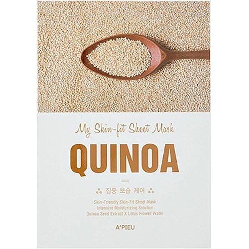 A'Pieu Маска My Skin-Lit Sheet Mask Quinoa для Лица Тканевая с Экстрактом Киноа, 25г michael larsen my cheat sheet for sunday