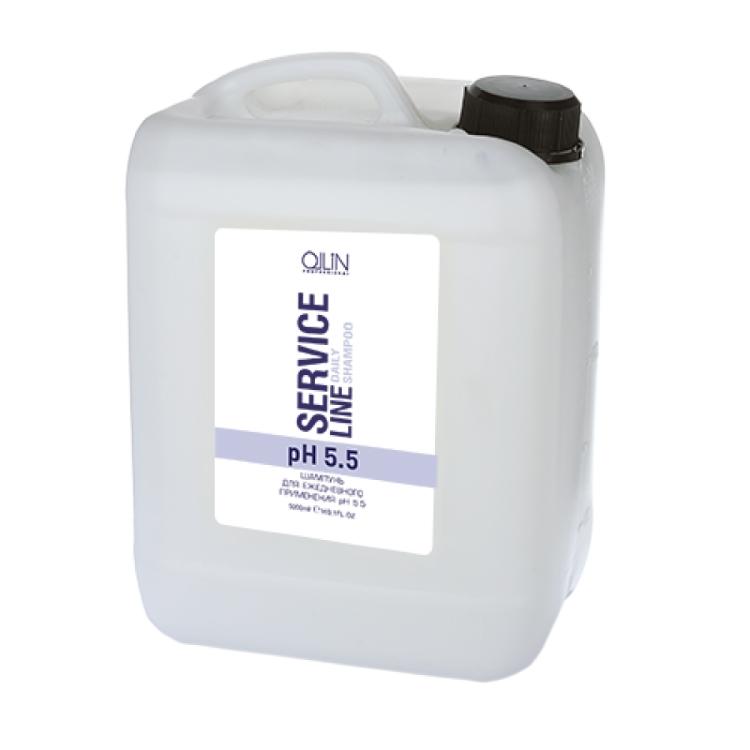 OLLIN PROFESSIONAL SERVICE LINE Шампунь для Ежедневного Применения Daily Shampoo pH 5.5, 5000 мл