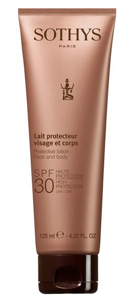 Sothys Эмульсия Protective Lotion Face And Body SPF30 High Protection UVA/UVB SPF30 для Чувствительной Кожи Лица и Тела, 125 мл