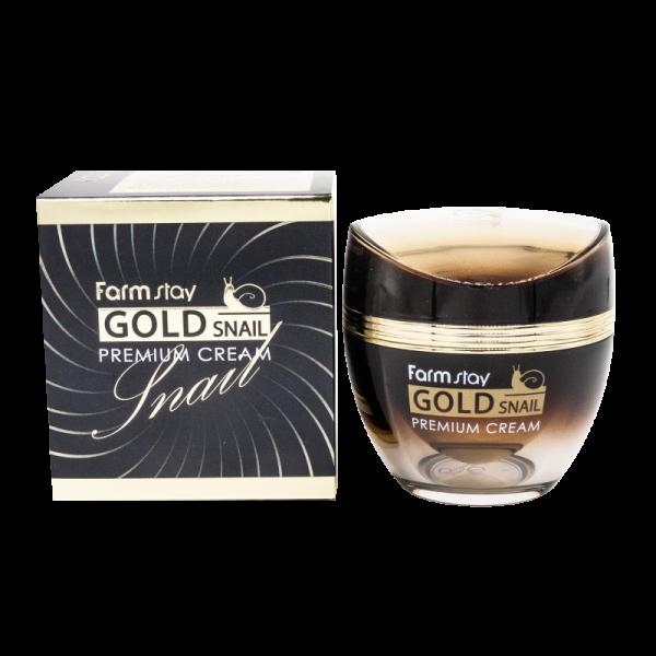 FarmStay Премиальный Крем с Золотом и Муцином Улитки Gold Snail Premium Cream, 50 мл
