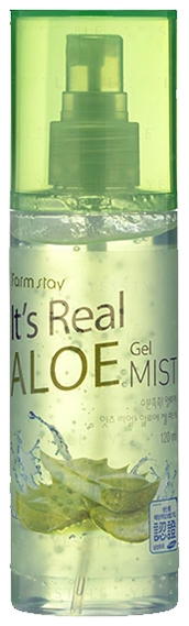 FarmStay Гель-Спрей Aloe Gel Mist для Лица с Экстрактом Алоэ, 120 мл farmstay гель спрей для лица с экстрактом граната farmstay farmstay it s real pomegranate gel mist 120 мл