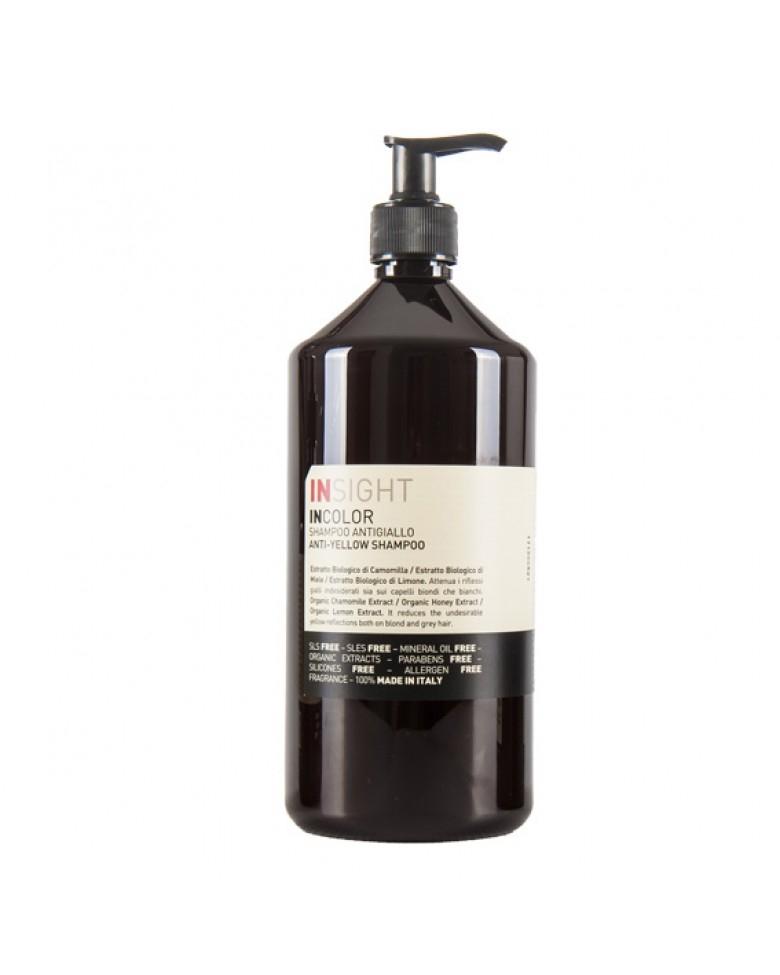 INSIGHT Шампунь для Нейтрализации Жёлтого Оттенка Волос, 900 мл insight шампунь для поврежденных волос 400 мл