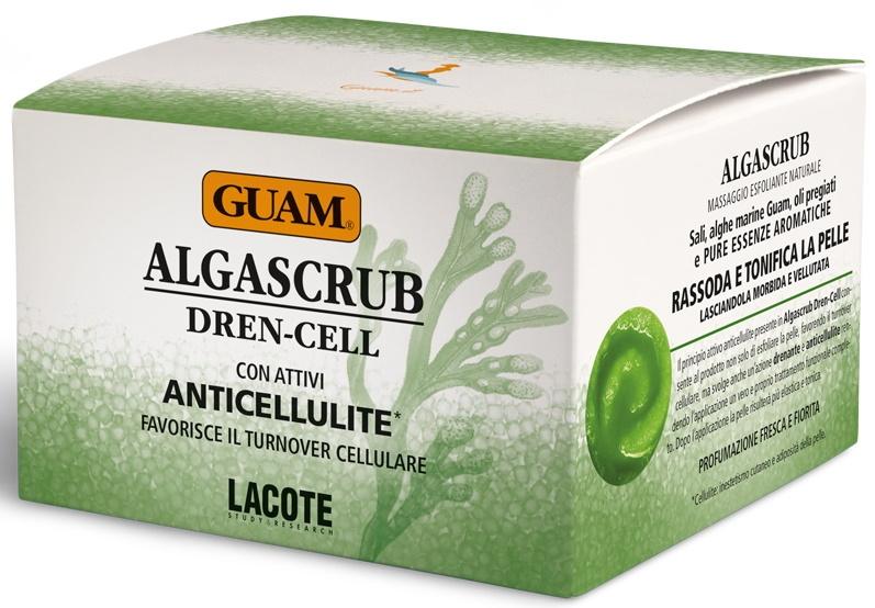 GUAM Скраб Algascrub с Эфирными Маслами Дренажный, 300 мл guam algascrub скраб для тела баланс и восстановление 300 мл