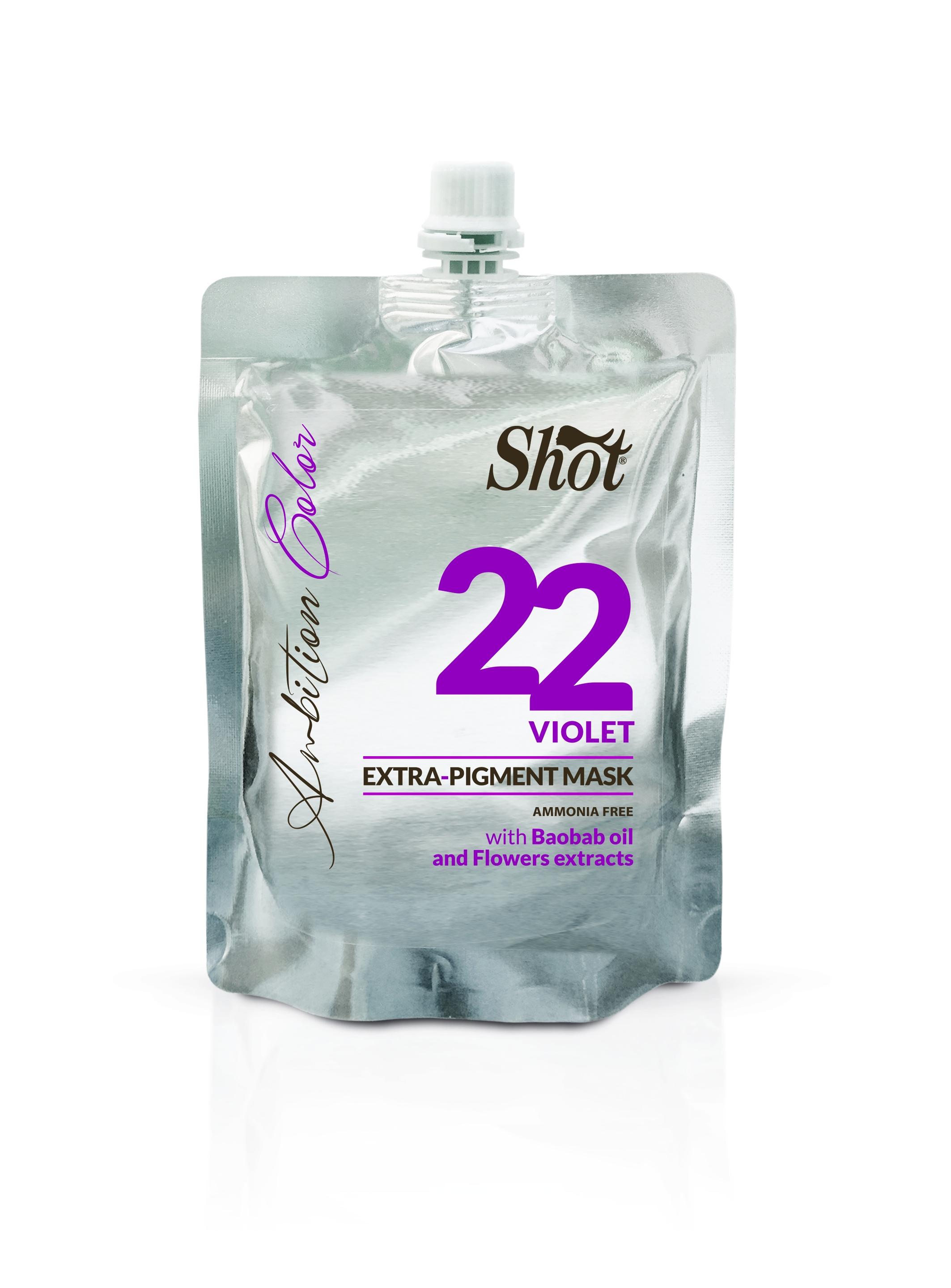 SHOT Маска Экстра Пигмент 22 Фиолетовый, 200 мл