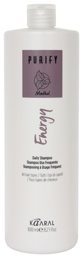 Kaaral Интенсивный Энергетический Шампунь с Ментолом Purify-Energy Shampoo, 1000 мл napura шампунь purify 200 мл