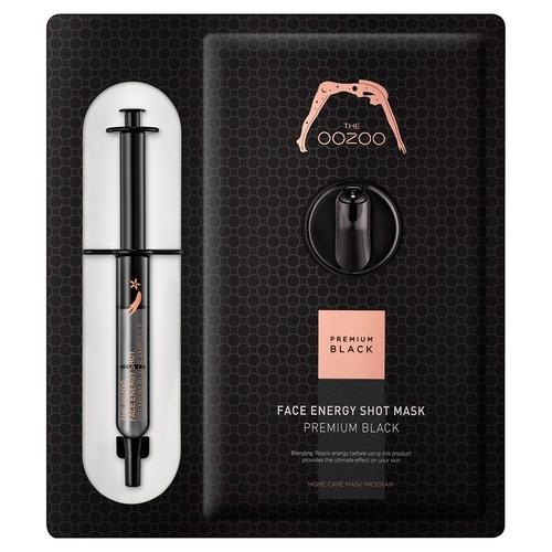The OOZOO Маска с Черным Женьшенем и Кератиназой S для Интенсивного Антивозрастного Ухода Face Energy Shot Mask Premium Black, 1 шт*2,8 мл+27 мл цена