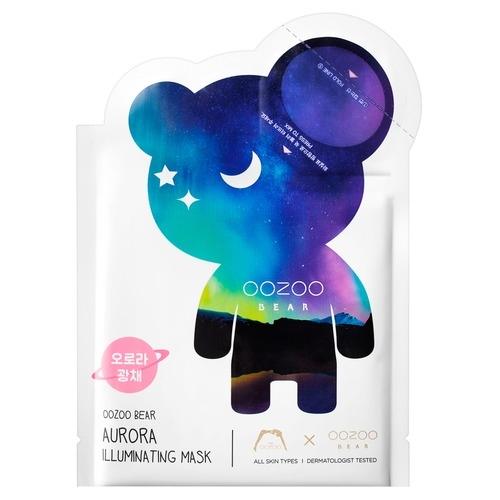 The OOZOO Двухфазная Маска Мишка УЗУ Северное Сияние для Сияния Bear Aurora Illuminating Mask, 1 шт*3 мл+20 мл