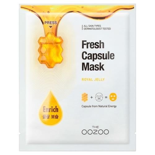 The OOZOO Маска с Капсулой-Активатором с Маточным Молочком Сияние и Питание Fresh Capsule Mask Royal Jelly, 1 шт*3,3 мл+25 мл