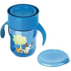AVENT Philips Чашка-Поильник 260 мл, 9 мес+ (голубая, розовая) avent philips глубокая тарелка 230 мл 6 мес голубая и розовая