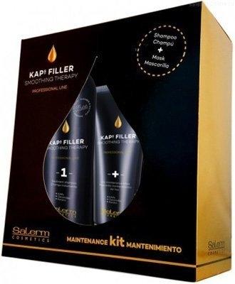Salerm Cosmetics Набор Kaps Filler для Домашнего Ухода, 500+200 мл маска для волос 200 мл halal cosmetics 8 марта женщинам