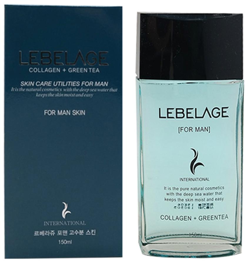 Lebelage Тонер Collagen+Green Tea For Men Skin Увлажняющий для Мужчин с Коллагеном и Зеленым Чаем, 150 мл недорого
