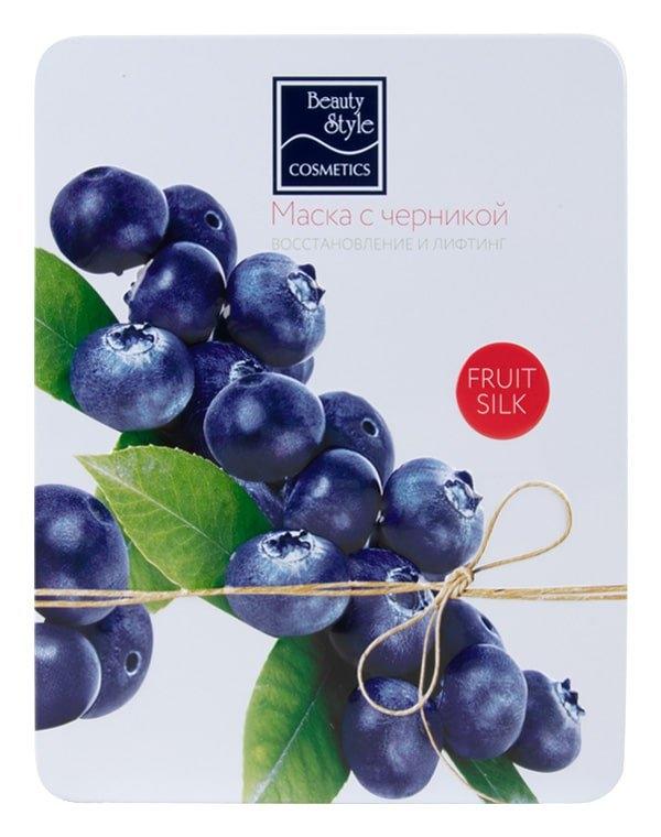Beauty Style Маска Fruit Silk с Черникой Восстановление и Лифтинг, 30 мл*7 шт