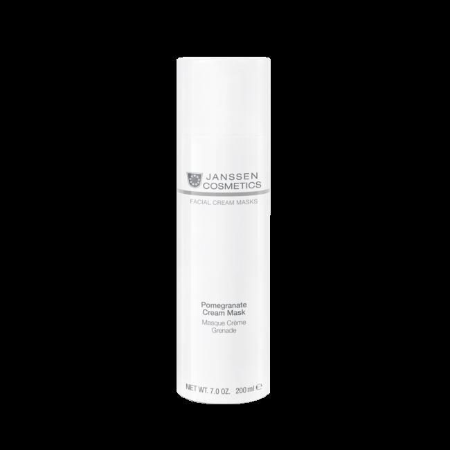 Janssen Крем-Маска Pomegranate Cream Mask Омолаживающая с Экстрактом Граната и Витамином C, 200 мл janssen cosmetics pure secrets