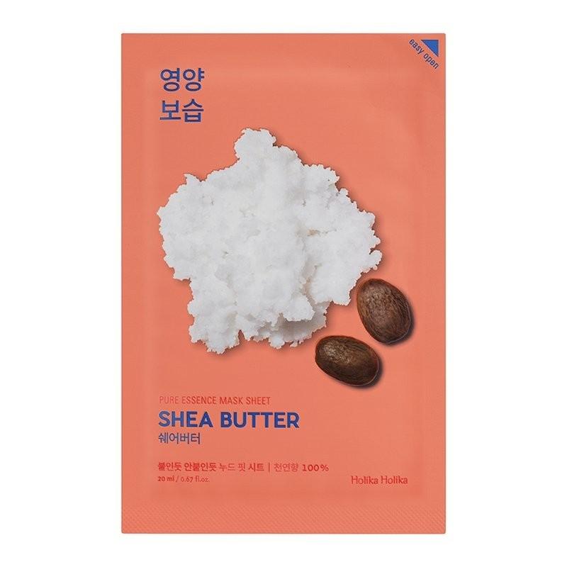 Holika Маска Pure Essence Mask Sheet Shea Butter Питающая Тканевая Пьюр Эссенс с Маслом Ши, 20 мл