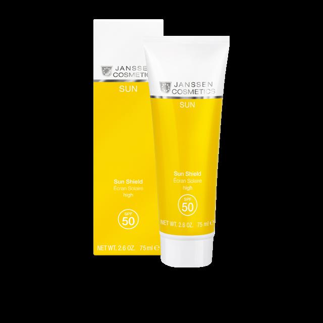 Janssen Эмульсия Sun Shield SPF 50 для Лица и Тела с Максимальной Защитой, 75 мл матирующая эмульсия для лица dry touch spf 30 50 мл