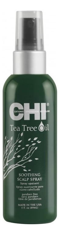 CHI Спрей Tee Tree Oil Успокаивающий с Маслом Чайного Дерева, 89 мл chi luxury black seed oil curl defining cream gel