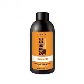OLLIN PROFESSIONAL Флюид-препигментатор медный Copper Fluid-Pre-Color, 90 мл флюид c ehko keratin farbglanz hair fluid 7 10 мл