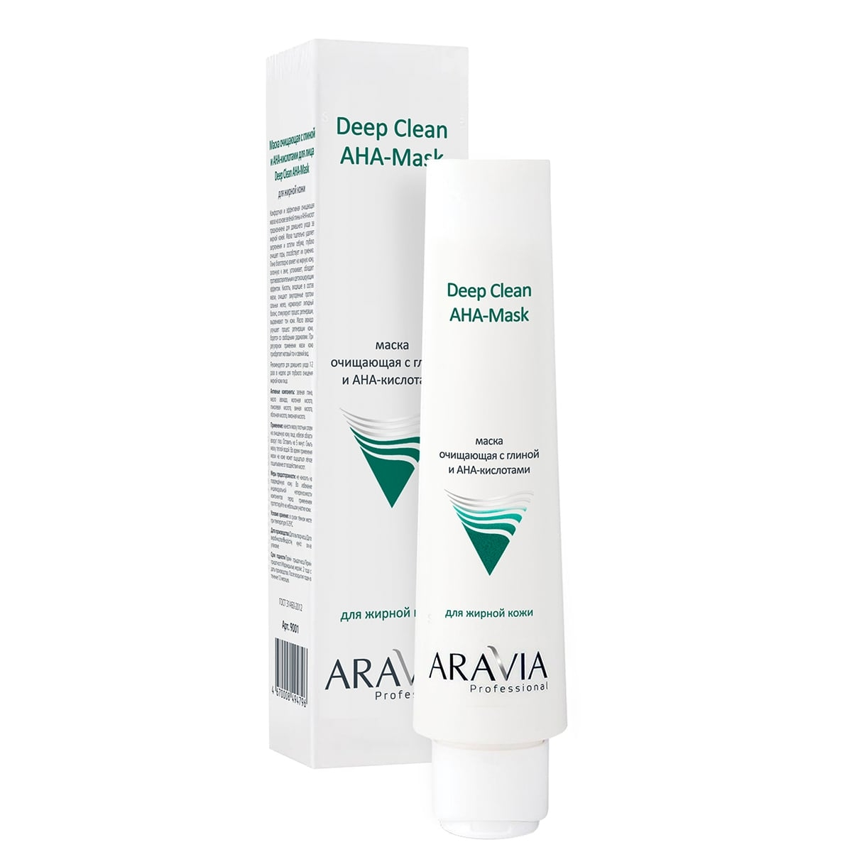 ARAVIA Маска Очищающая с Глиной и AHA-Кислотами для Лица Deep Clean AHA-Mask, 100 мл