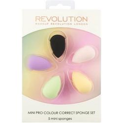 Makeup Revolution Набор Цветных Корректириующих Спонжей Mini Pro Colour Correct Sponge Set
