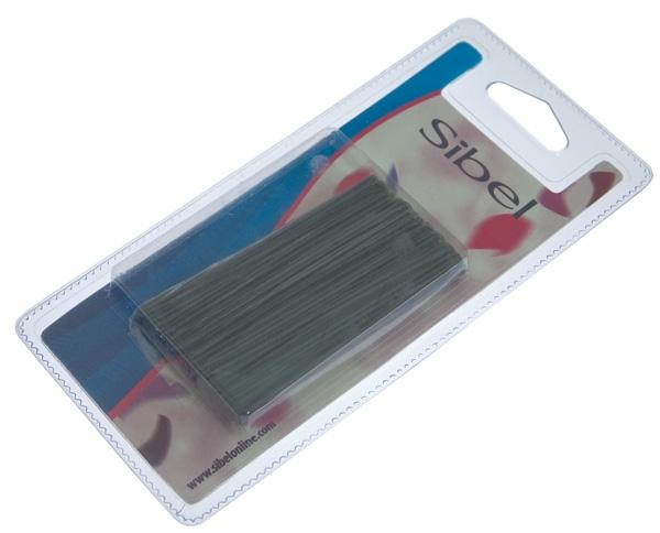 Sibel Шпильки Гладкие 70 мм Черные, 50 шт
