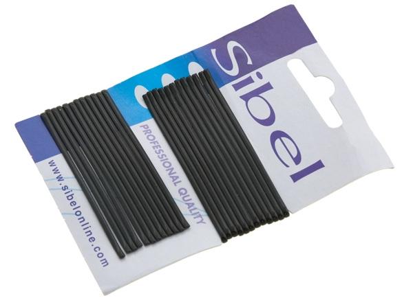 Sibel Невидимки Гладкие 70 мм Черные, 24 шт