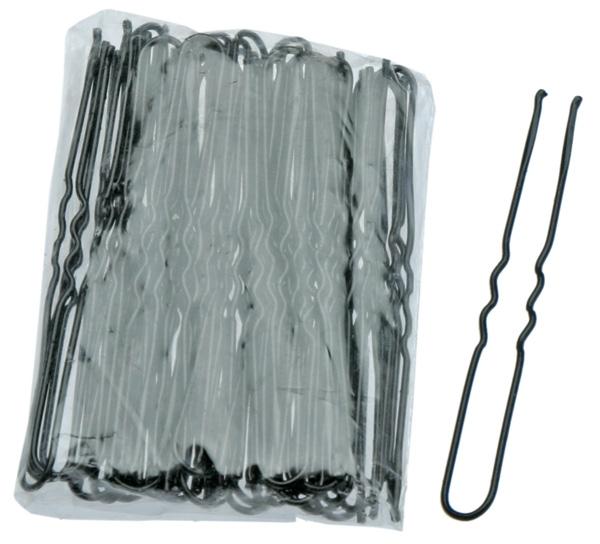 цена на Sibel Шпильки Фигурные 45 мм Чёрные, 50 шт