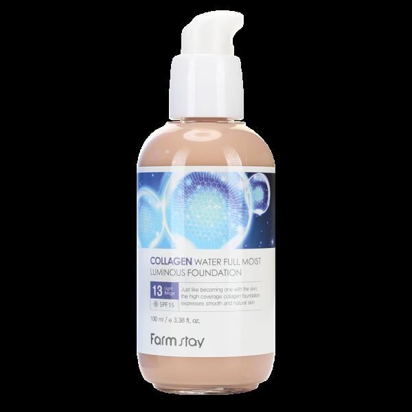 FarmStay Коллагеновый Тональный Крем с Эффектом Сияния, Оттенок #13 Collagen Water Full Moist Luminous Foundation, 100 мл