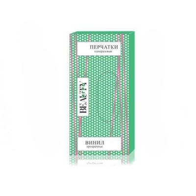 IGRObeauty Перчатки Виниловые Прозрачные Неопудренные, Размер L Большой, 100 шт