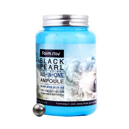 FarmStay Многофункциональная Ампульная Сыворотка с Черным Жемчугом Black Pearl All-In-One Ampoule, 250 мл farmstay многофункциональная ампульная сыворотка с черным жемчугом black pearl all in one ampoule 250 мл