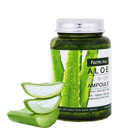 FarmStay Многофункциональная Ампульная Сыворотка с Экстрактом Алоэ Aloe All-In-One Ampoule, 250 мл