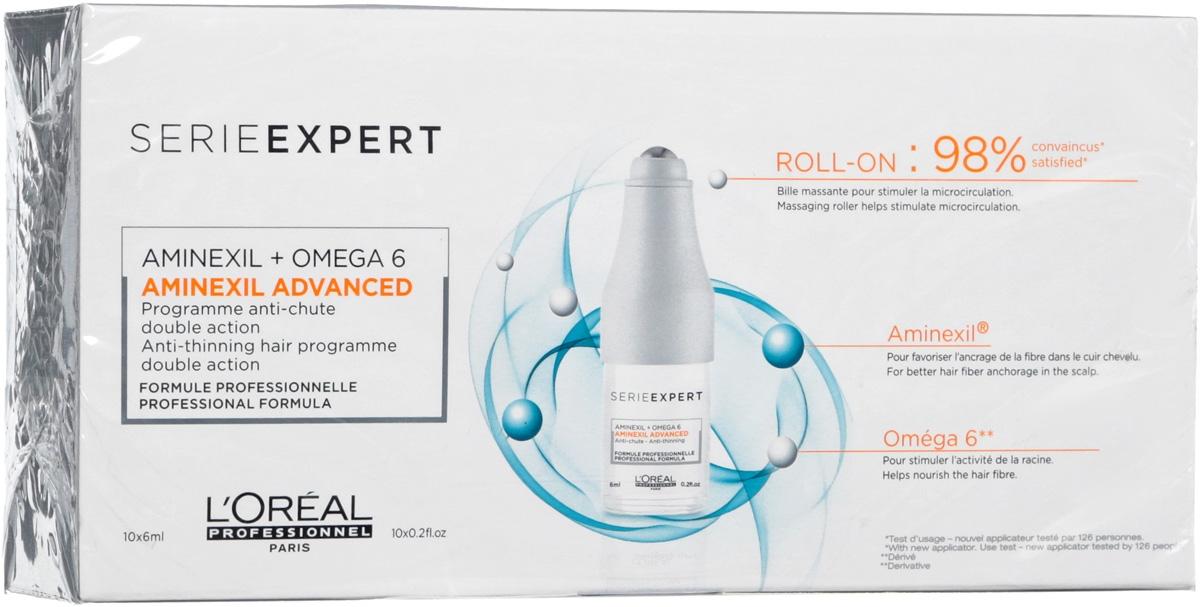 L'Oreal Professionnel Ампулы Aminexil Advanced Scalp Против Выпадения Волос Аминексил Эдванст, 10*6 мл
