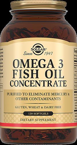 Solgar Концентрат Omega-3 Fish Oil Concentrate Рыбьего Жира Омега-3 Капсулы №60