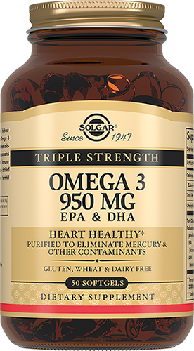 Solgar Омега-3 Omega-3 Тройная 950 мг ЭПК и ДГК Капсулы №100 солгар двойная омега 3 700 мг эпк и дгк 60 капс