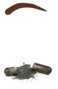 Godefroy Синтетическая Краска-Хна в Капсулах для Бровей (Тем-Коричневая) Eyebrow Tint Dark Brown, набор 15 капсул