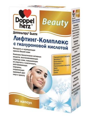 Doppelherz Лифтинг-Комплекс Бьюти с Гиалуроновой Кислотой, капс. №30
