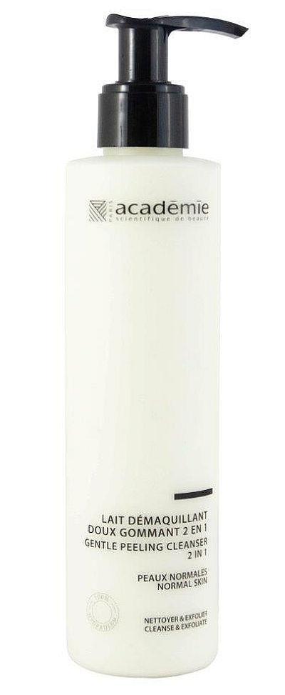 Academie Молочко Gentle Peeling Cleanser 2 in 1 Мягкий Пилинг 2 в 1, 200 мл mbr biochange two in one cleanser очищение 2 в 1