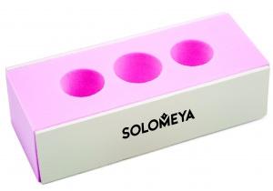 Solomeya Блок-Полировщик 2 Way Block Buffer с Отверстием под Пальцы для Ногтей 2-х Сторонний, 1 шт