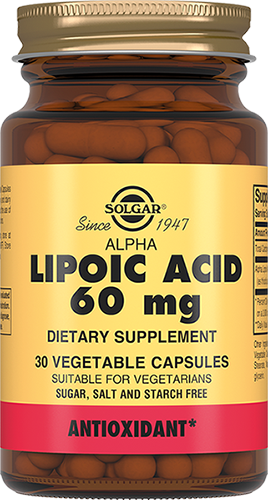 Solgar Кислота Alpha Lipoic Acid Альфа-Липоевая Капсулы №30 цены онлайн